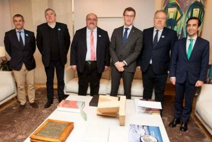 Núñez Feijóo recibe a representantes evangélicos de Galicia