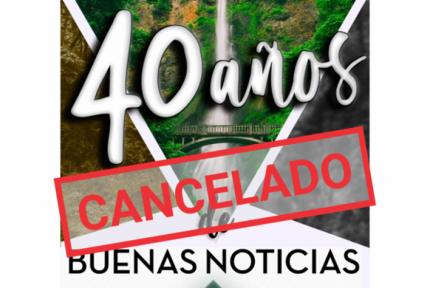 Suspensión Retiro Nacional 40 aniversario y VIII Jornadas Misioneras